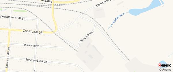 Светлый переулок на карте Тайги с номерами домов