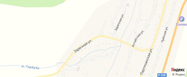 Заречная улица на карте села Шебалино Алтая с номерами домов