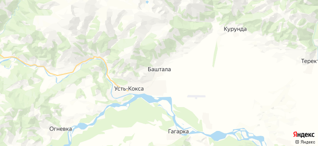 Баштала на карте