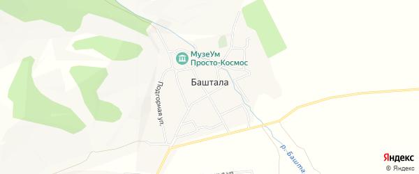 Карта села Башталы в Алтае с улицами и номерами домов