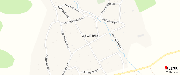 Речной переулок на карте села Башталы Алтая с номерами домов