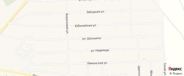 Улица Шукшина на карте села Усть-коксы Алтая с номерами домов