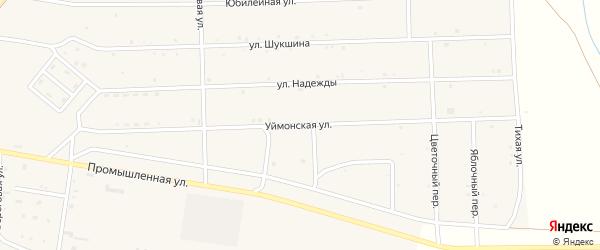 Уймонская улица на карте села Усть-коксы Алтая с номерами домов
