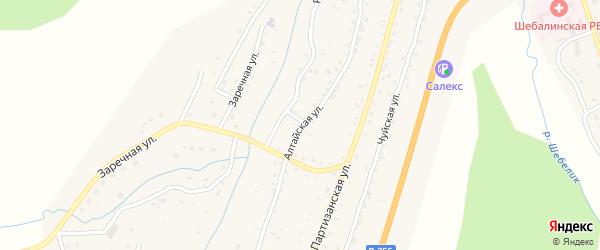 Алтайская улица на карте села Шебалино Алтая с номерами домов