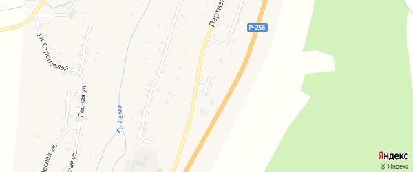 Улица Энергетиков на карте села Шебалино Алтая с номерами домов
