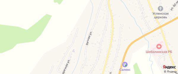 Речная улица на карте села Шебалино Алтая с номерами домов