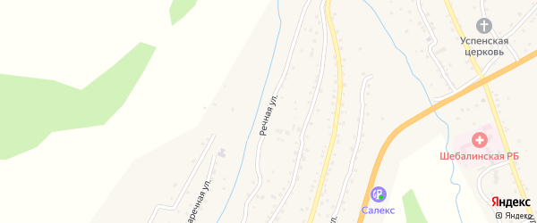 Речная улица на карте села Шебалино с номерами домов