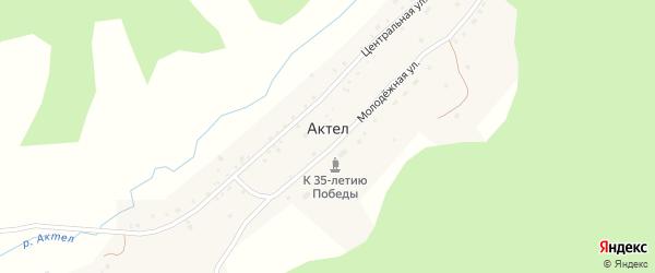 Заречная улица на карте села Актела Алтая с номерами домов