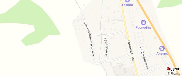 Сельскохозяйственная улица на карте села Шебалино Алтая с номерами домов