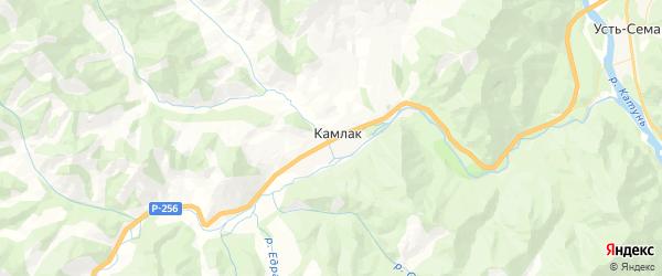 Карта Камлакского сельского поселения Республики Алтая с районами, улицами и номерами домов