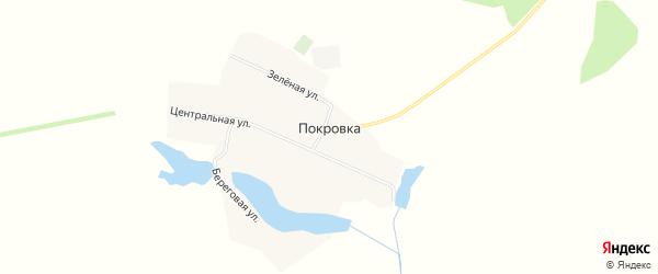 Карта деревни Покровки в Кемеровской области с улицами и номерами домов