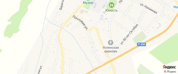 Почтовая улица на карте села Шебалино Алтая с номерами домов
