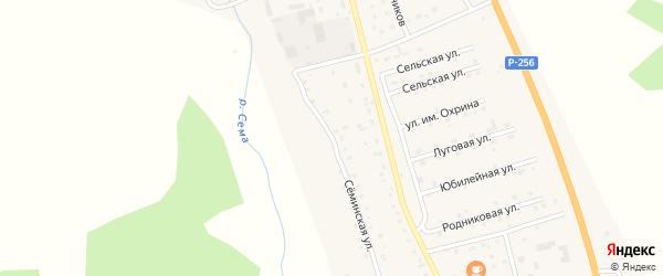 Семинская улица на карте села Шебалино Алтая с номерами домов