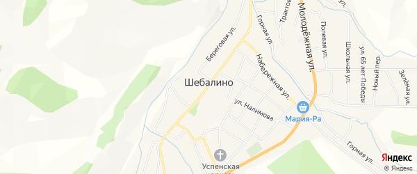 Карта села Шебалино в Алтае с улицами и номерами домов