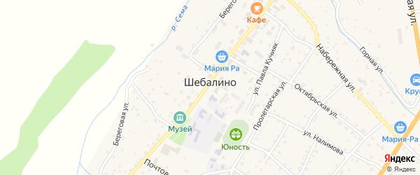 Улица 65 лет Победы на карте села Шебалино с номерами домов