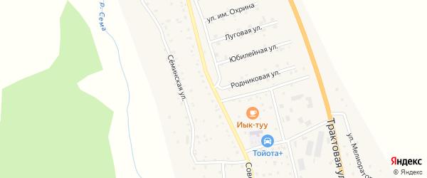 Советская улица на карте села Дъектийка Алтая с номерами домов