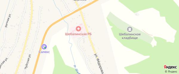 Улица Федорова на карте села Шебалино Алтая с номерами домов