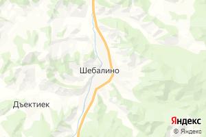 Карта с. Шебалино Республика Алтай