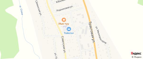 Улица Кооператоров на карте села Шебалино Алтая с номерами домов
