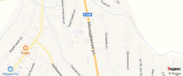 Молодежная улица на карте села Шебалино Алтая с номерами домов