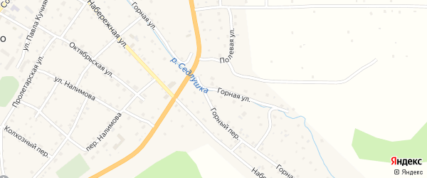 Горная улица на карте села Шебалино Алтая с номерами домов