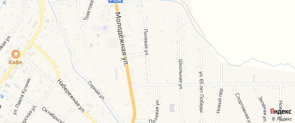 Полевая улица на карте села Шебалино с номерами домов