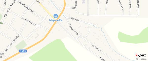 Горный переулок на карте села Шебалино Алтая с номерами домов