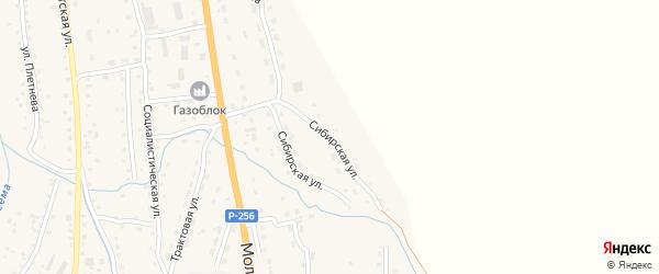 Сибирская улица на карте села Шебалино Алтая с номерами домов