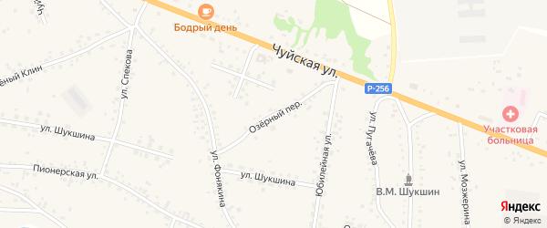 Озерный переулок на карте села Сростки с номерами домов