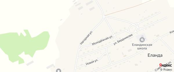 Нагорная улица на карте села Еланды с номерами домов
