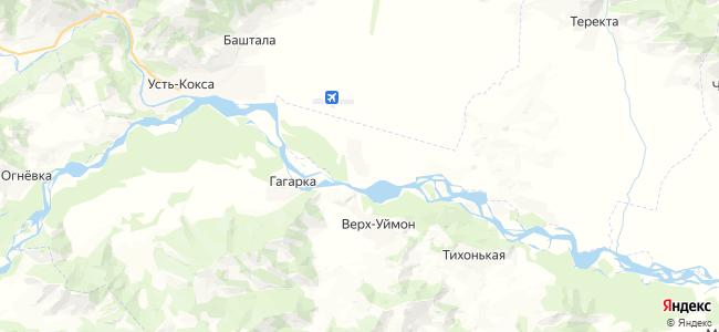 Октябрьское на карте