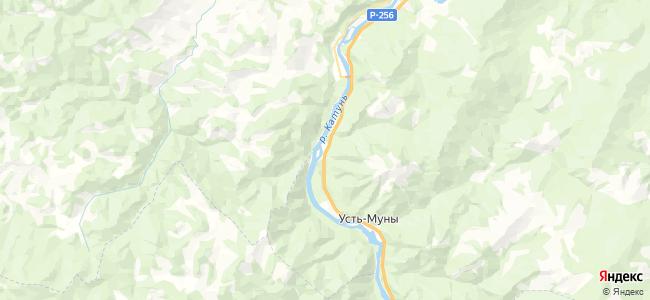 Известковый на карте