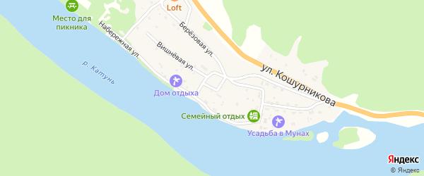 Сиреневый переулок на карте села Усть-Муны Алтая с номерами домов