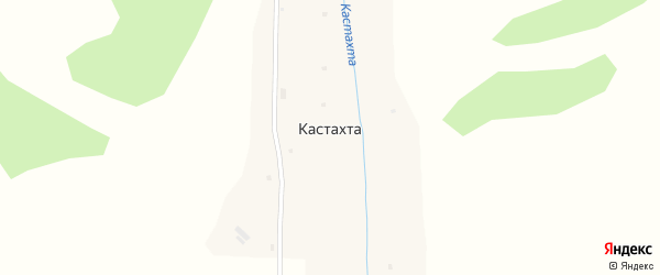 Заречная улица на карте села Кастахты Алтая с номерами домов