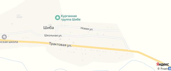 Школьная улица на карте села Шибы Алтая с номерами домов