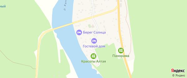 Зеленая улица на карте поселка Усть-семы Алтая с номерами домов