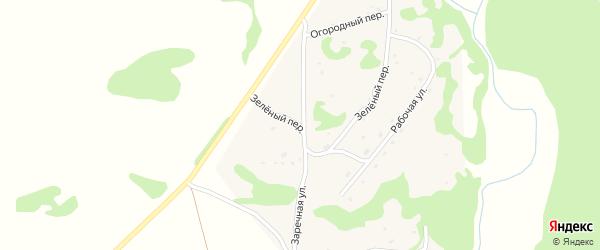 Зеленый переулок на карте села Шебалино Алтайского края с номерами домов