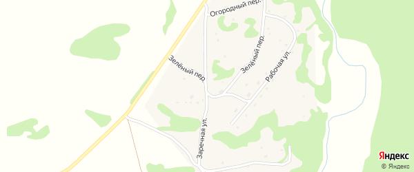 Заречная улица на карте села Шебалино Алтайского края с номерами домов