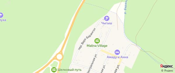 Переулок Верх-Барангол на карте поселка Усть-семы Алтая с номерами домов