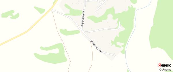 Речной переулок на карте села Шебалино Алтайского края с номерами домов