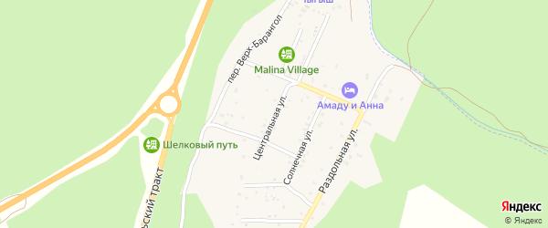 Центральная улица на карте поселка Усть-семы Алтая с номерами домов