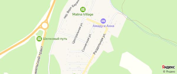 Солнечная улица на карте поселка Усть-семы Алтая с номерами домов