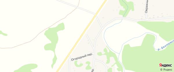 Огородный переулок на карте села Шебалино Алтайского края с номерами домов