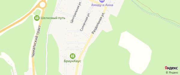 Раздольная улица на карте поселка Усть-семы Алтая с номерами домов