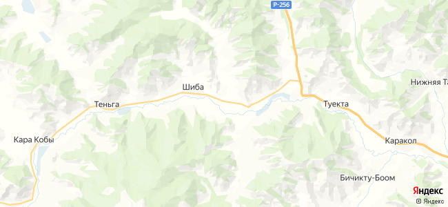 Талда на карте