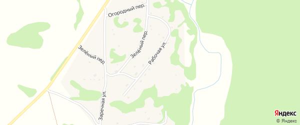 Рабочая улица на карте села Шебалино Алтайского края с номерами домов
