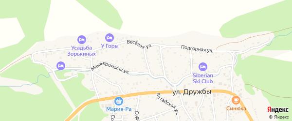 Речной переулок на карте села Манжерка Алтая с номерами домов