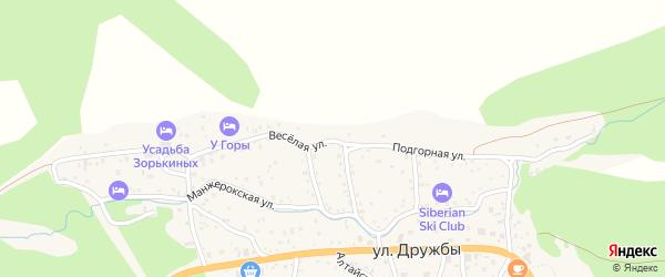Подгорная улица на карте села Манжерка Алтая с номерами домов