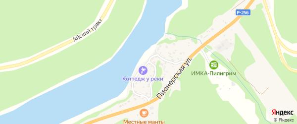 Набережная улица на карте села Манжерка Алтая с номерами домов