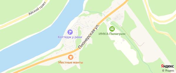 Пионерская улица на карте села Манжерка Алтая с номерами домов
